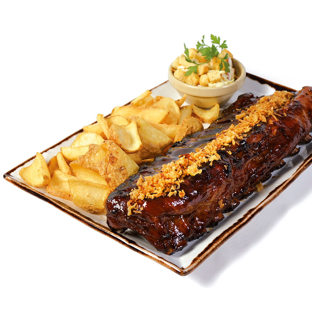 Cotton Grill. Charcoal Ribs. Double Glazed Spare Ribs