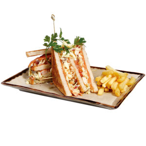 Cotton Grill. Sandwich. Salmon Club Sandwich