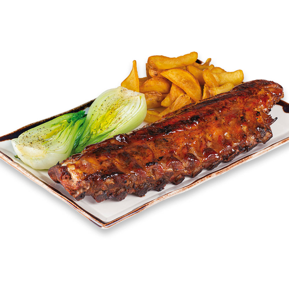 Cotton Grill. Charcoal Ribs. Chinese BBQ Spare Ribs